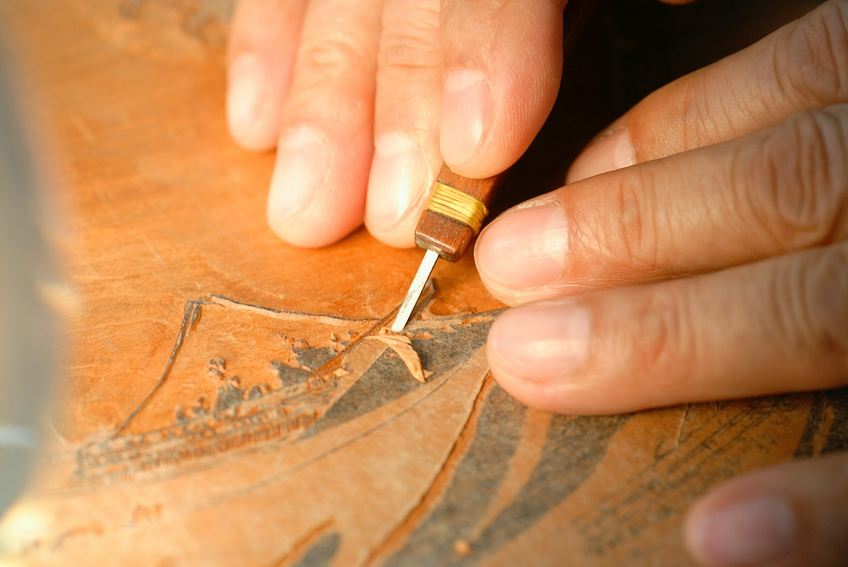 Woodblock Printing Process